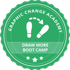 Graphic Change Academy Badge draw more boot camp